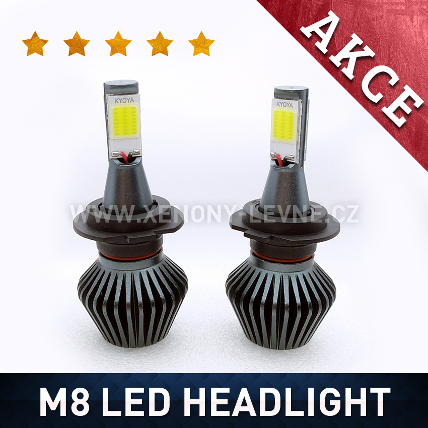 M8 LED HEADLIGHT H11 6000K 36W / 3800LM 12V/24V