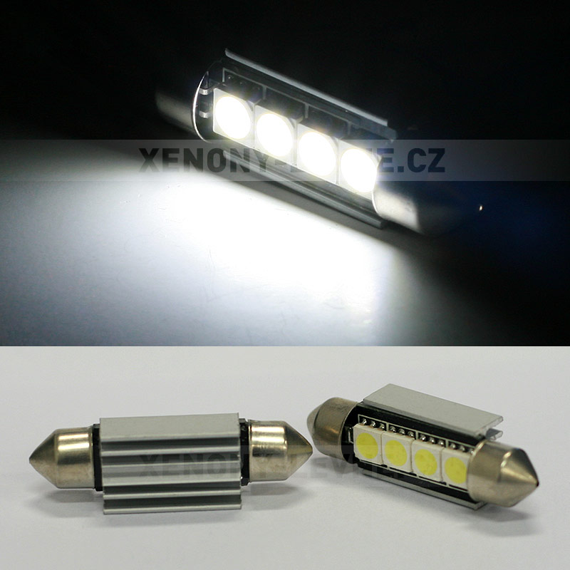CAN-BUS sufitka bílá - Super Light, 4 SMD LED, 39mm, 1ks