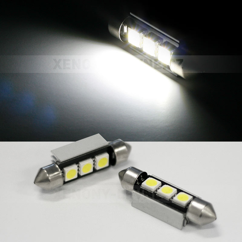 CAN-BUS sufitka bílá - Super Light, 3 SMD LED, 36mm, 1ks